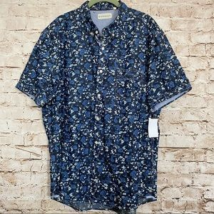 7 Diamonds Sz 2XL Short Sleeve Floral Shirt